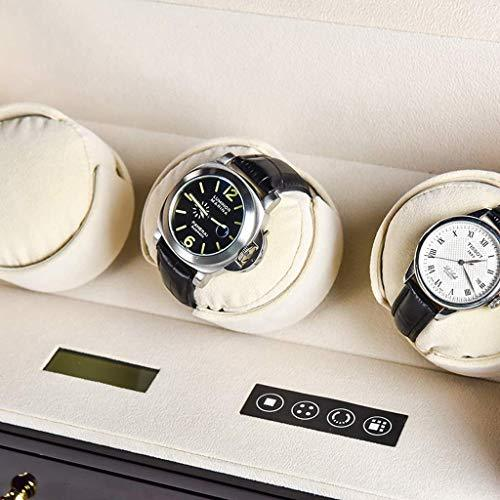 ZJZ Watch Winder 3 Watches Rotating Watches Wood Shell and