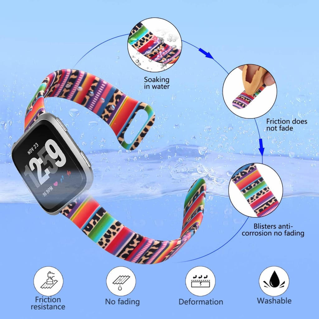 Women Printing Silicone Band for Fitbit