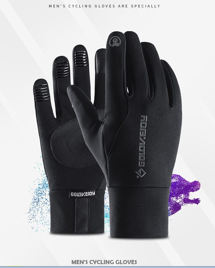 Mens Unisex Leather Gloves Touch Screen Thinsulate Lined