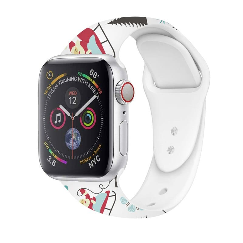 Printed Cartoon sport for Apple Watch band series 5 4 3 2 1