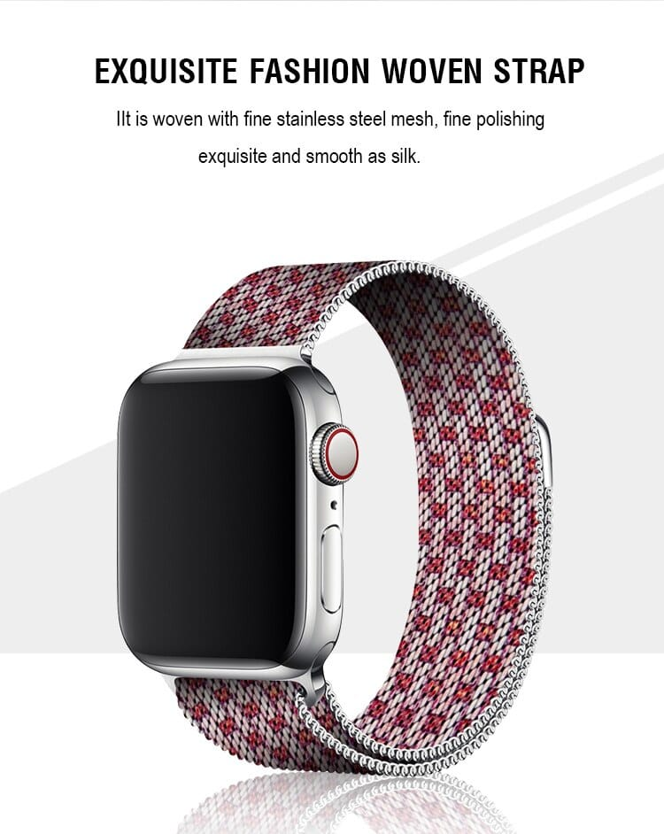 Milanese Loop Band Stripe Design For Apple Watch