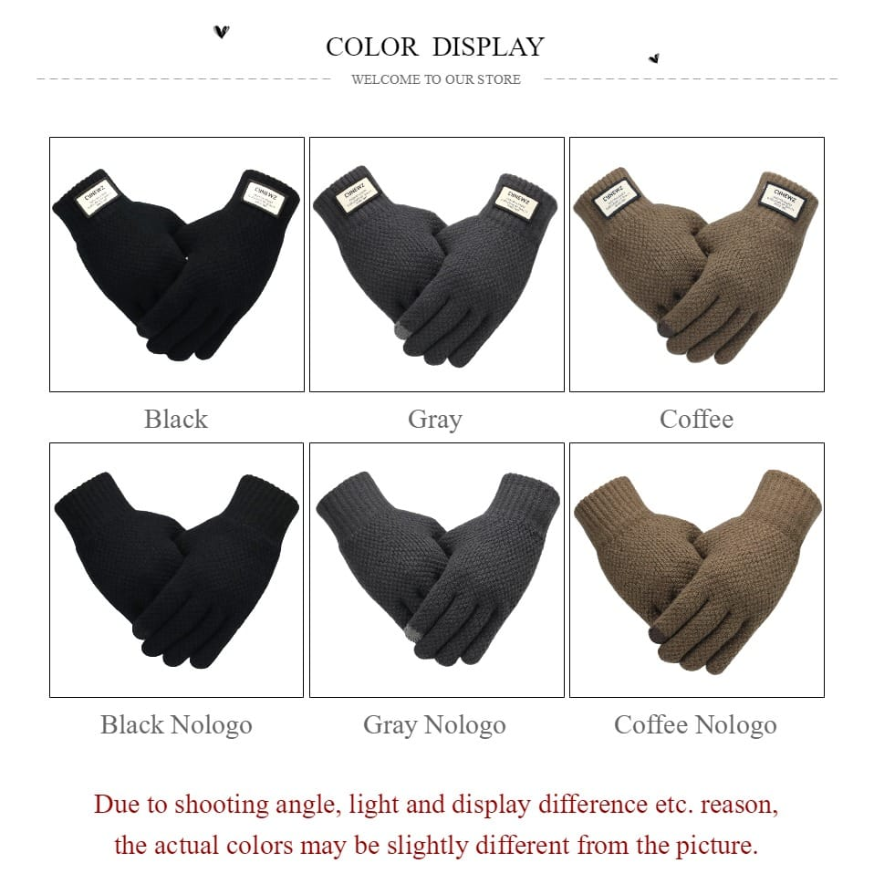 Winter Men Knitted Gloves Touch Screen High Quality Male