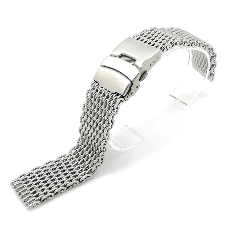 Silver 18mm/20mm/22mm/24mm Stainless Steel Milanese Shark