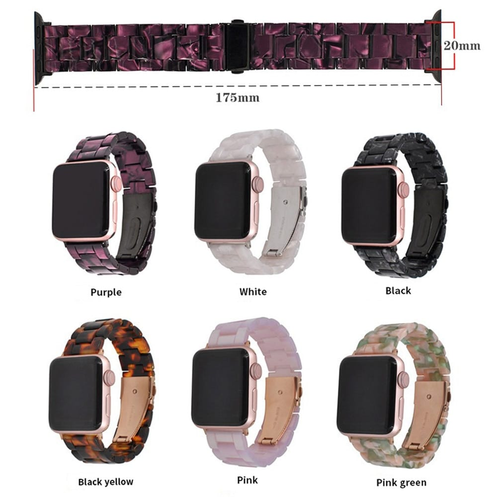 New Style Luxury Resin Watch Band for Apple Watch