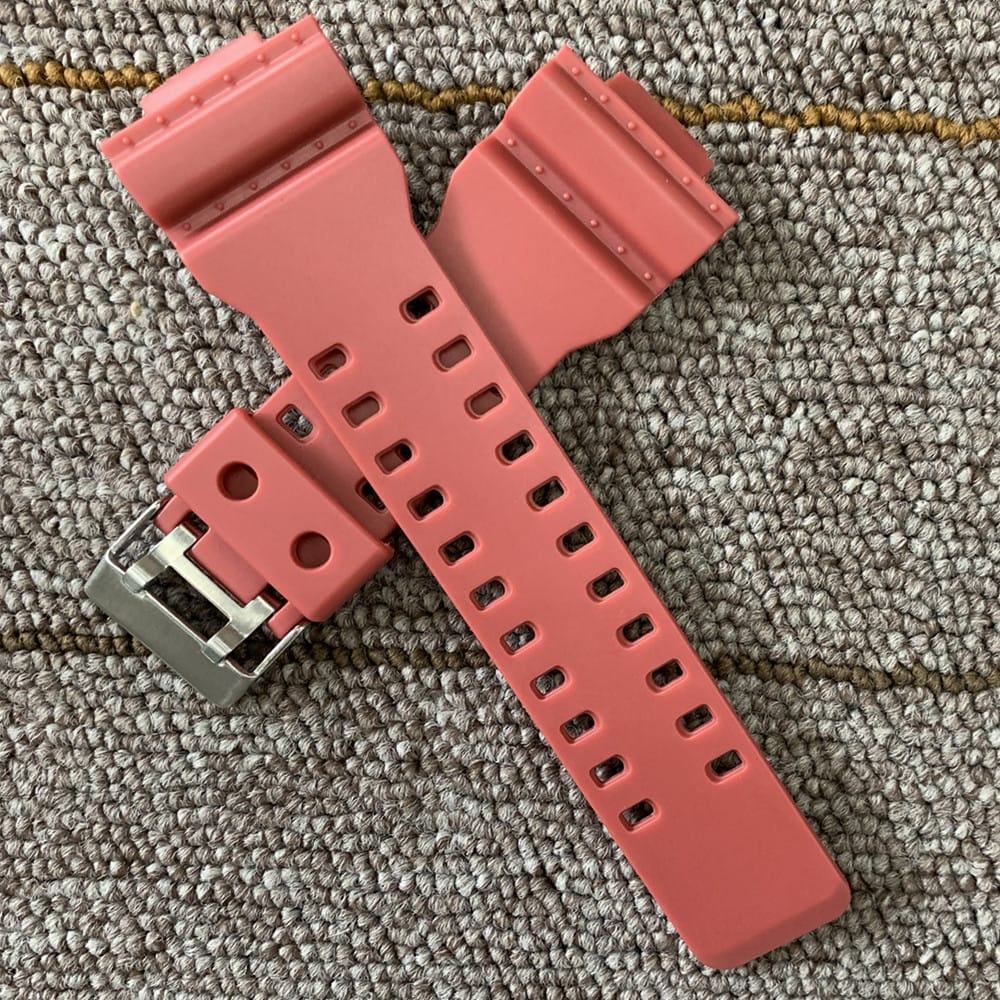 16mm Silicone Rubber Watch Band Strap Fit For