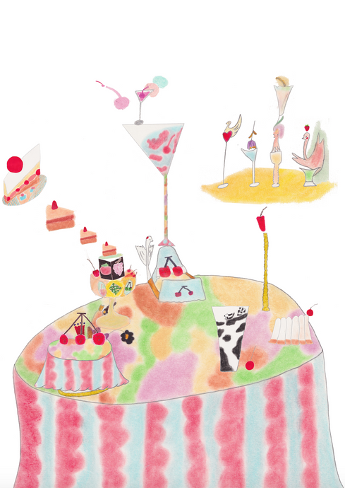Afternoon tea table (Print)