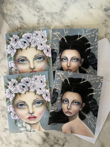 Set of 4 Mixed Notecard Prints