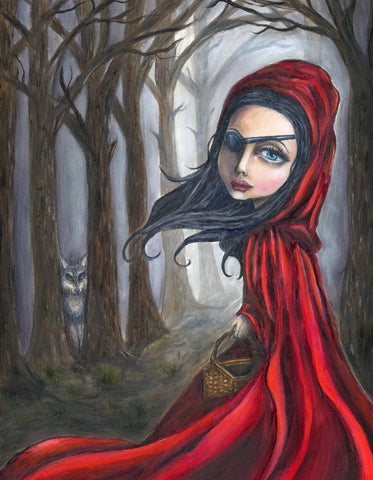 Red Riding Hood Original Oil painting 11x14""