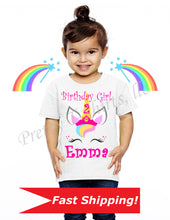 Load image into Gallery viewer, Unicorn Birthday Shirt, Custom Birthday Shirts, Custom Unicorn Birthday Shirt