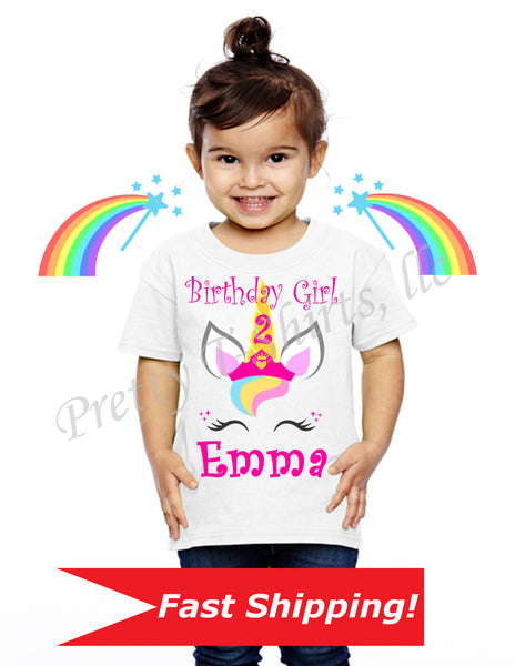 Unicorn Birthday Shirt, Custom Birthday Shirts, Custom Unicorn Birthday Shirt