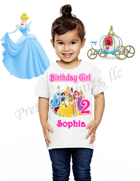 Princess Birthday Shirt, Custom Birthday Shirts, Princess Disney Birthday Shirt, Princess Shirt