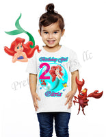Princess Ariel Birthday Shirt, Custom Birthday Shirts, Ariel, Little Mermaid Birthday Shirt, #2