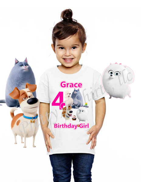 Secret Life of Pets Birthday Shirt, GIRL, Custom Pets Birthday Shirts, Secret Life of Pets Shirt, Pets Shirt, GIRL