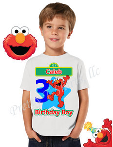 Elmo Birthday Shirt, Custom Elmo Birthday Shirts, Sesame Street Birthday Shirt, Elmo Shirts