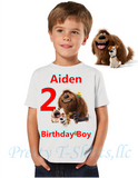 Secret Life of Pets Birthday Shirt, Custom Pets Birthday Shirts, Secret Life of Pets Shirt, Pets Shirt, BOY
