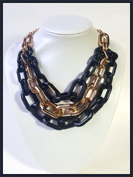 Black/Gold Chain Link Necklace