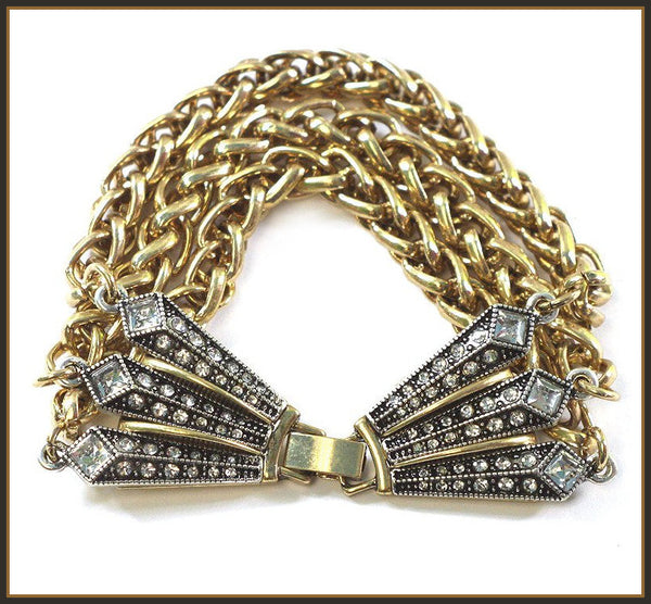 Art Deco Faux Jeweled Bracelet