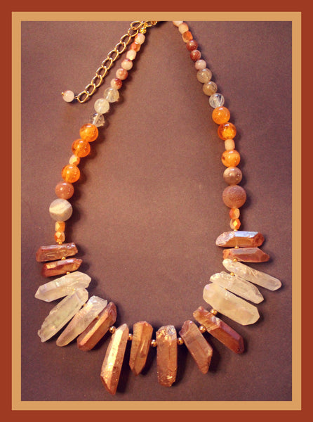 Amber Semi-Precious Stone Necklace