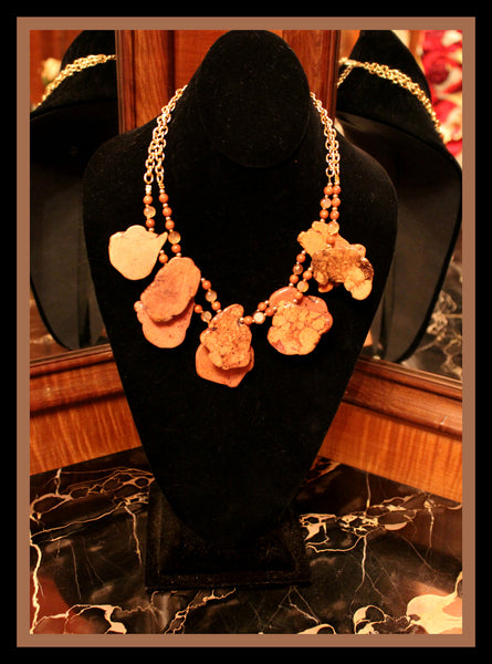 Brown Semi-Precious Stone Necklace