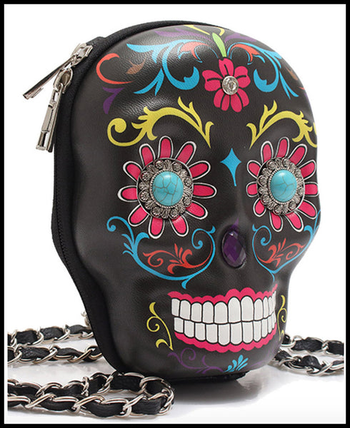 Outlaw Country Black Skull Bag