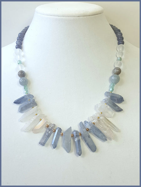 Blue Semi-Precious Stone Necklace