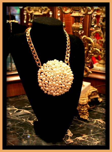 Large Pearl Circle Necklace