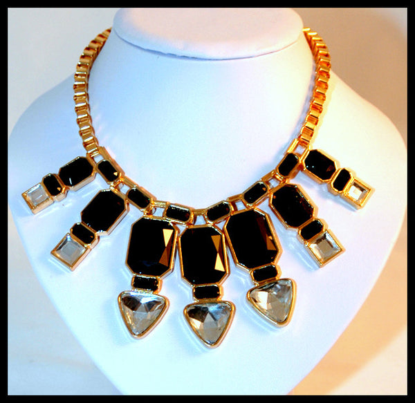 Black & Clear Acrylic Necklace