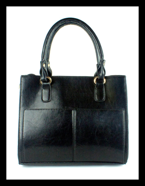 Black Two Pocket Handbag