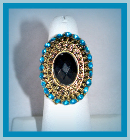 Blue Stone Stretch Ring