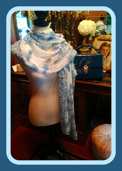 White & Blue Scarf