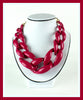 Cranberry Acrylic Link Necklace