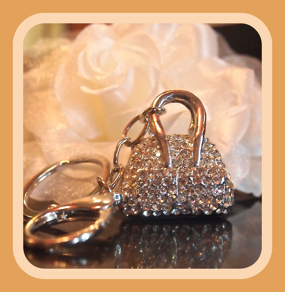 Crystal Pocketbook Keychain
