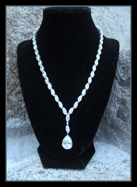 Cubic Zirconia Necklace & Earring Set