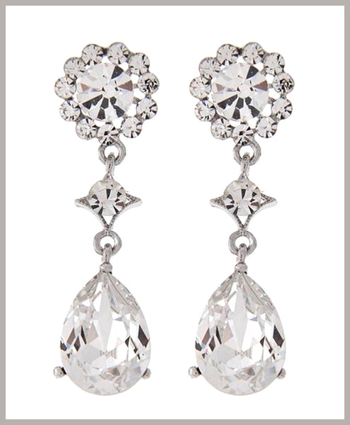 Austrian Crystal Dangle Earrings