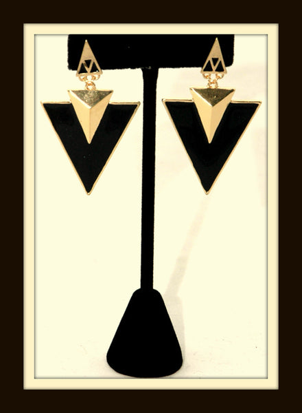 Arrowhead Enamel Earrings