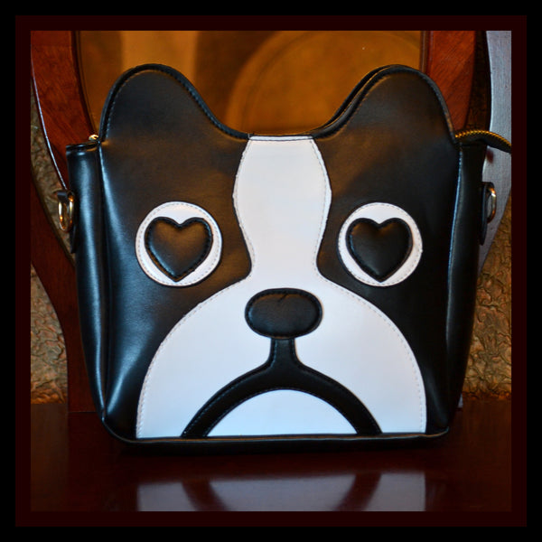 Black & White Pug Handbag