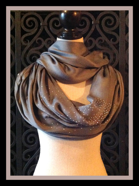 Grey Scarf with Sparkles