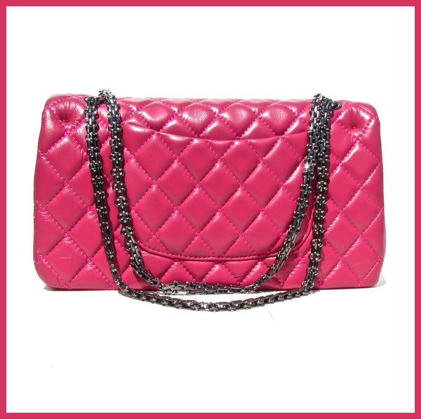Pink Quilted Handbag