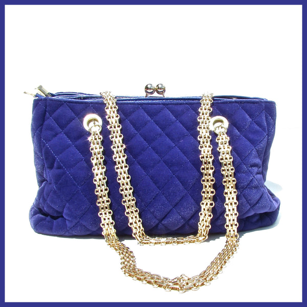 Royal Blue Quilted Handbag