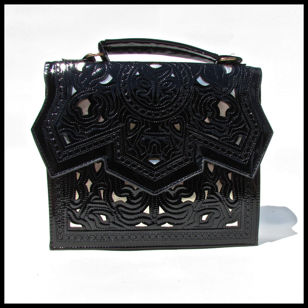 Black Laser Cut Handbag