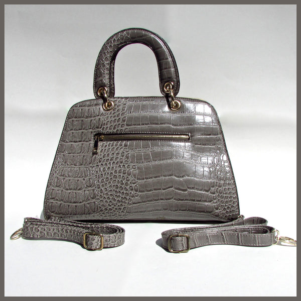 Alligator Skin Print Handbag