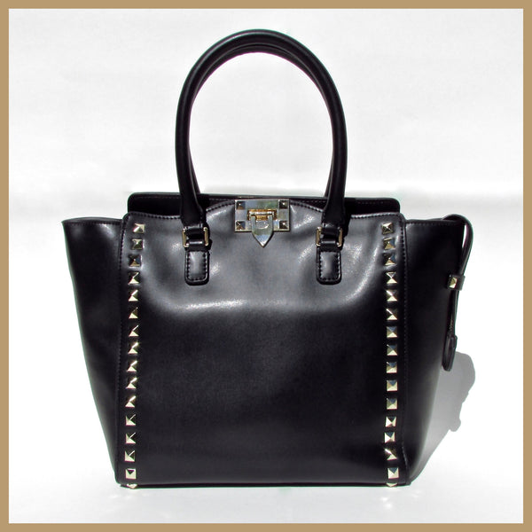 Black Studded Tote