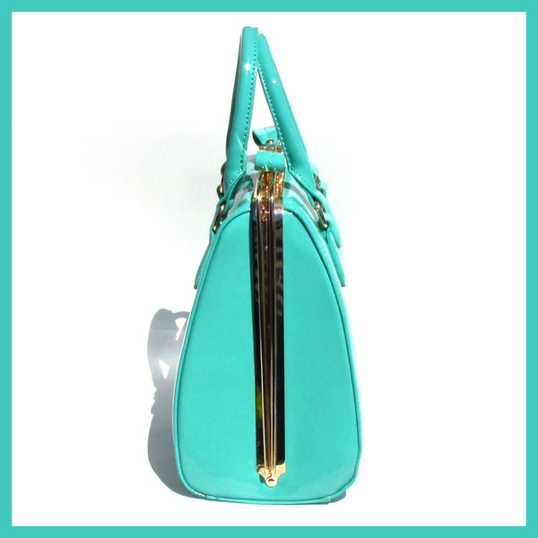 Trapezoid Mint Green Handbag