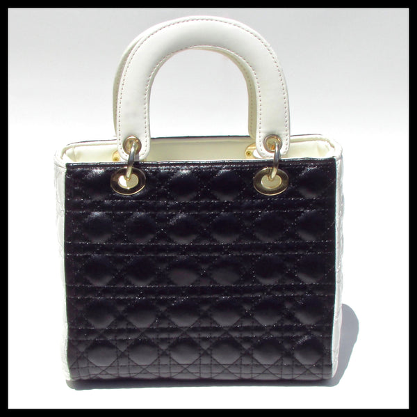Black & White Quilted Tote