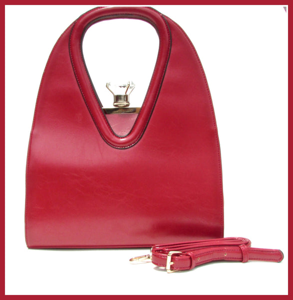 Red Purse with Diamond Clasp