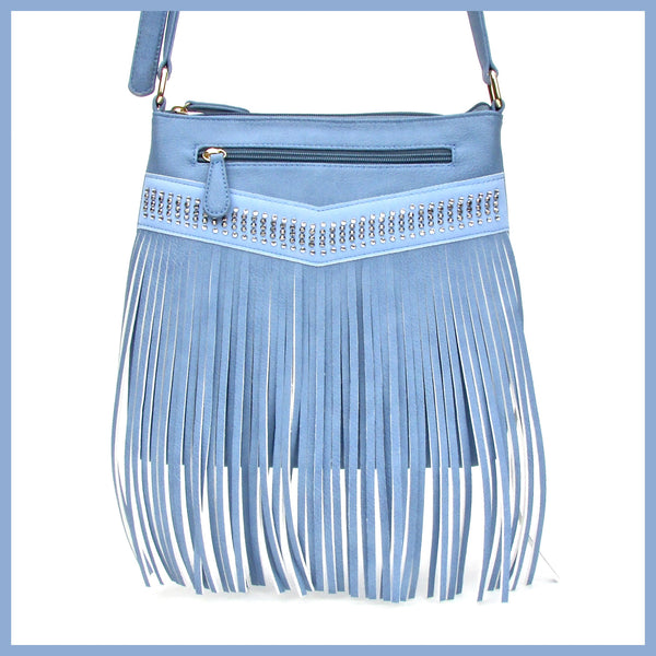 Blue Fringe Bag