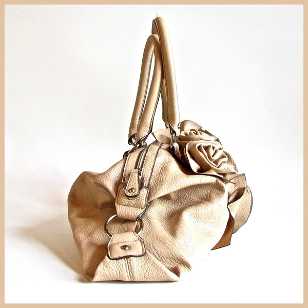 Beige Flower Handbag
