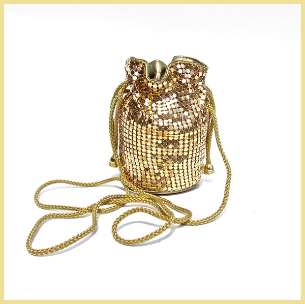 Gold Sequin Evening Bag