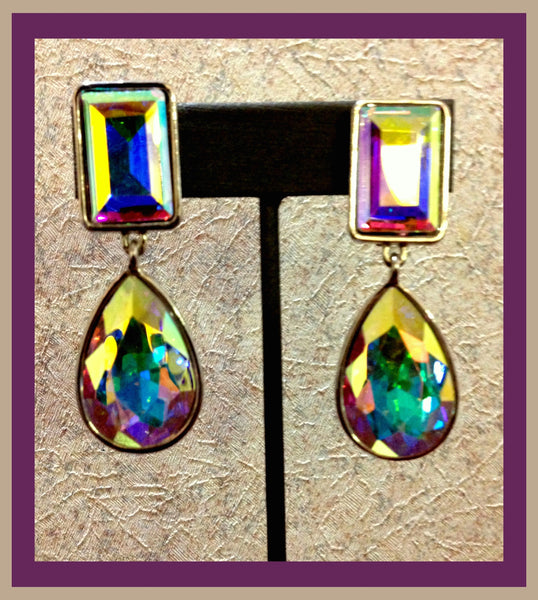 Iridescent Clip-On Earrings
