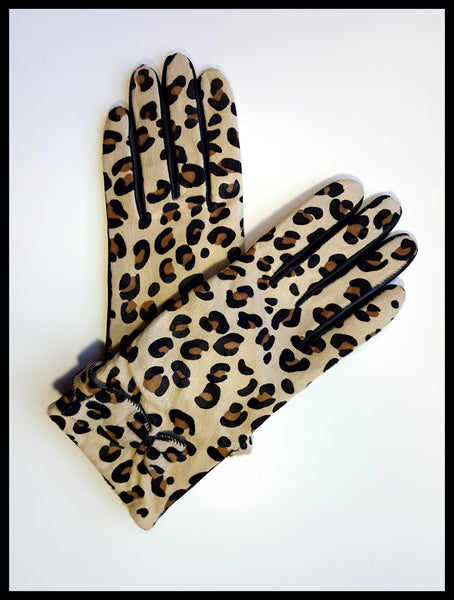 Kate Spade Cheetah Print Bow Gloves Size 7